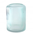 Glas Windlicht Asaria, D18cm, H24cm, grün